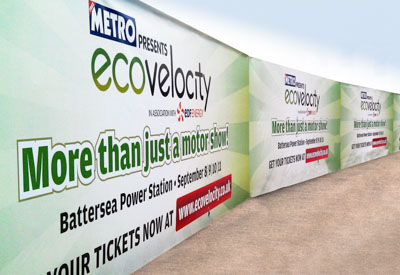 Exterior hoardings from Perton Signs