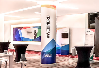 Pillar Wraps: Conference Services from Perton Signs
