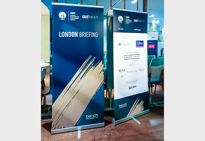Roller-banners, pull-up banners from Perton Signs