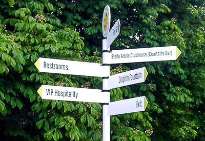Event directional signage from Perton Signs: Wayfinding Signs