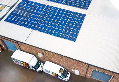 Perton Signs show their commitment to the environment with Solar Panels
